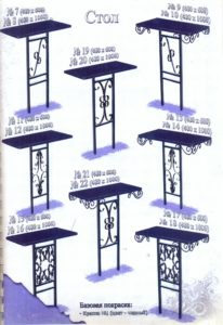 Столы металлические 40012